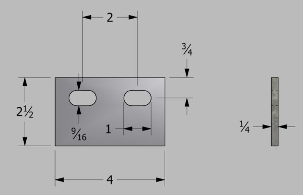Two Hole Lifting Lug for Storage Tanks Drawing