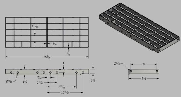 Bar Grating Top Step for Steel Stairways at SteelFront