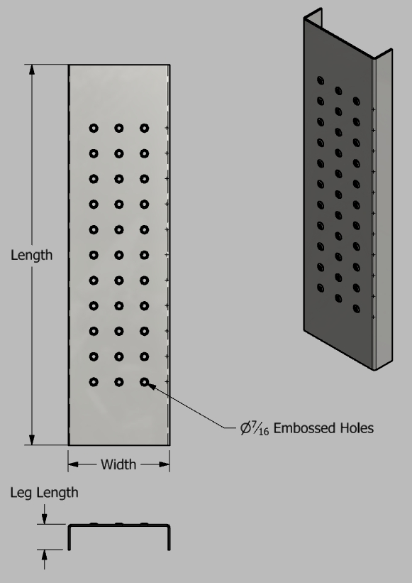 Weld-On Step Perforated Step with Embossed Holes